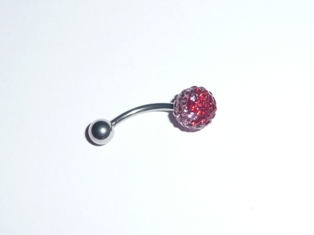 PIERCING NOMBRIL SHAMBALLA DEGRADE ROUGE ROSE